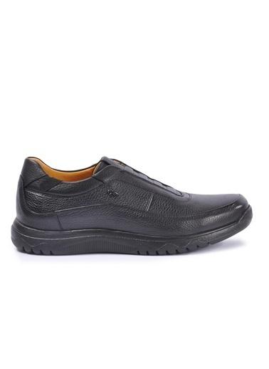 Dr.Flexer Dr.Flexer 152010 Ki Deri Erkek Slip On Ayakkabı Siyah